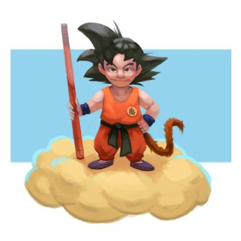 Kid Goku by antonio-panderas