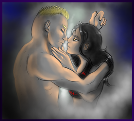 Brocke and Kelly - the kiss by FuriarossaAndMimma