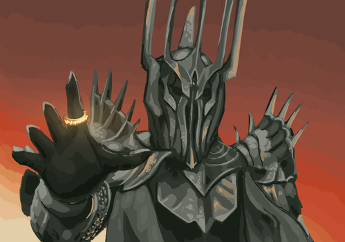 Sauron painting practice by Maximum993