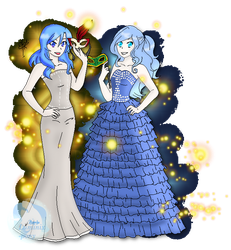[COLLAB] Luminix and Symphony during prom by TheNightgazer