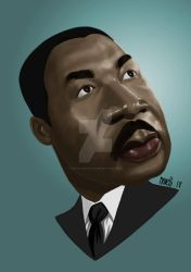 Martin Luther King by jpaolonovelli