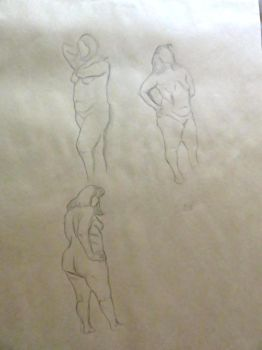 Life Drawing - 5 MIN Roughs by LazerWhale