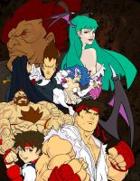 Street Fighters vs. Darkstalkers by TheBIG-O