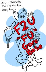 Anthro Gore base F2U by Randomthewolfskie