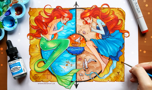+Little Mermaid - The Land and The Sea+ by larienne