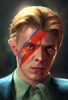 Goodbye Starman - David Bowie by WeaponMassCreation