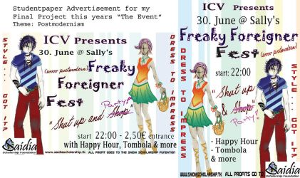 Freaky Foreigner Fest: Ad by a-mole