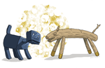 Woozy and Sawhorse by ErinPtah