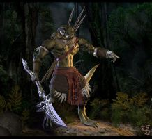 Aphashia, Lizardman Warrior by Shinsen