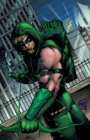 Green Arrow colors by hanzozuken