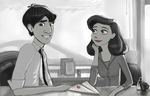 Meg and George again - Paperman by DreamyNatalie