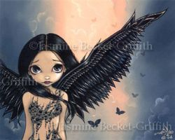 Black Winged Angel by jasminetoad