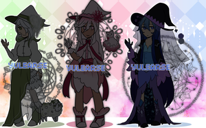 FLOWER WITCH SET [CLOSED] by Yulearse
