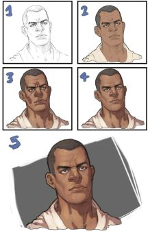 Face - Step By Step by Mick-cortes