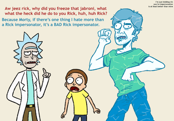 Rick and Morty meet Vinny by NegitiveX