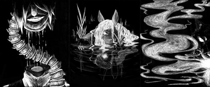 Horror Scratchboards by Pencil-Only