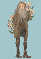 India with gladiolus [commission] by eszart