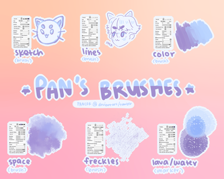 my (old) brush settings by panstarry