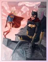 Supergirl and Batgirl New 52 by NilRecurring