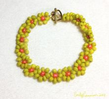 Yellow Daisy Bracelet by EmilyCammisa
