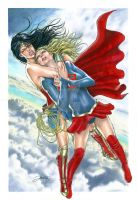 Wonder Woman vs supergirl by jonatasartes