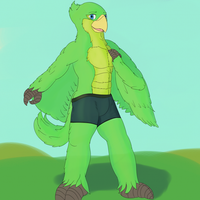 A green birb by dalnariarna