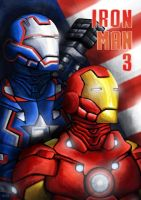Iron Man and War Machine by eosvector