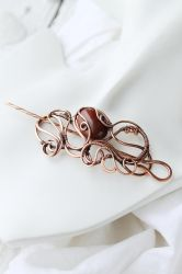 Copper hairpin Octopus by UrsulaJewelry