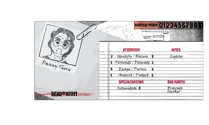 Danny Thorn - Dead of Night Character Cards by TallTalesNTentacles