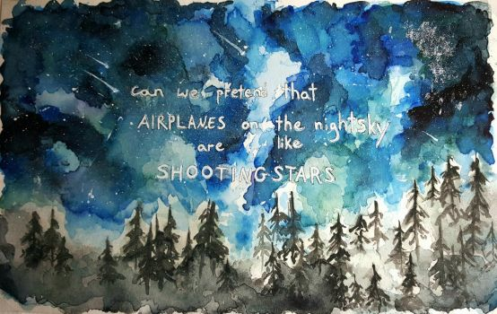 Airplanes (Water Color) by thalle-my-honey