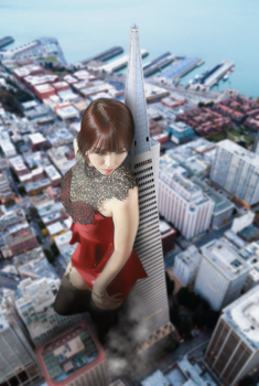 Towering Over San Francisco by intershrinker