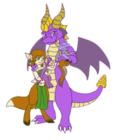 Spyro and Elora's Family by Draco-Digi