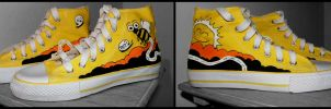 Yellow Sneakers by juroo