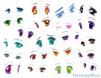 Anime Eyes - Copic Markers by DestinyBlue