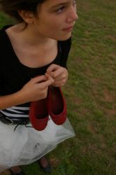 Her Red Shoes I by MannequinStock