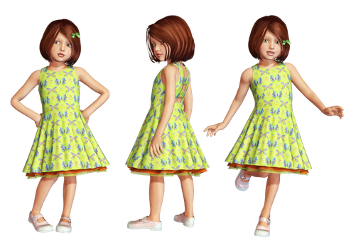 Green Dress PNG Stock by Roy3D