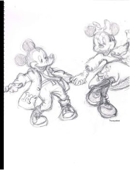 Minnie you one lucky girl by Thuree