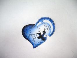 puzzle heart by malignant-child