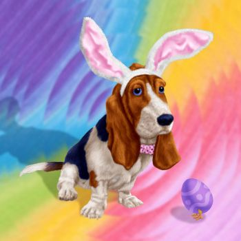 Basset Bunny by dragynsart