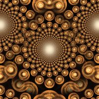 Orange Orbs Tiled Background 2 by Windthin