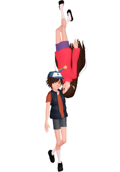 Mabel and Dipper Pines by DesertDraggon