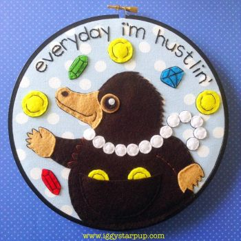 Niffler Embroidery by iggystarpup