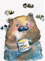 Bear with Friends by bemain