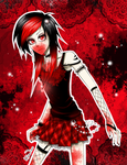 Vampire emo girl by fayrine