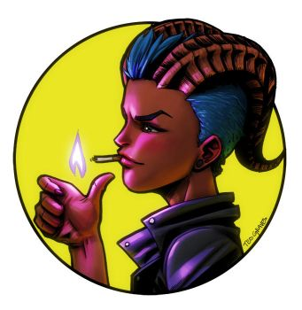 Smoking Savina by Zombie-Graves