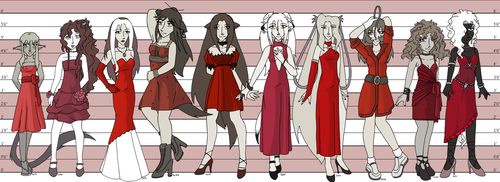 The Red Dress Project by drazzi
