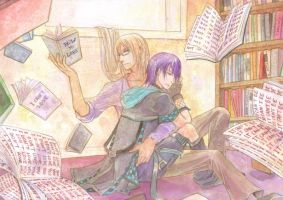 Com : In the library by Cynabrum