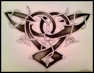 Celtic Back Piece by crashchick