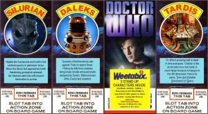Doctor Who weetabix cards 2010 by gfoyle