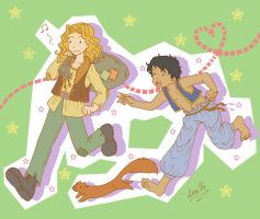 Dustfinger and Farid by Liralicia